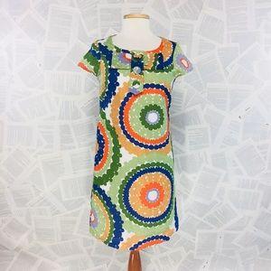 Biden Mod Hippie Circles Shift Dress size 2R